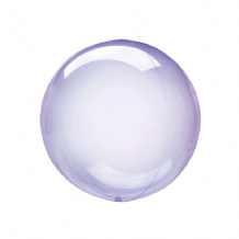 "Crystal Clearz Petite Balloon - Purple Crystal Clearz Petite  (12"") 1pc"